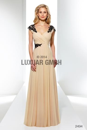 Rochie eleganta de seara Luxuar sampanie