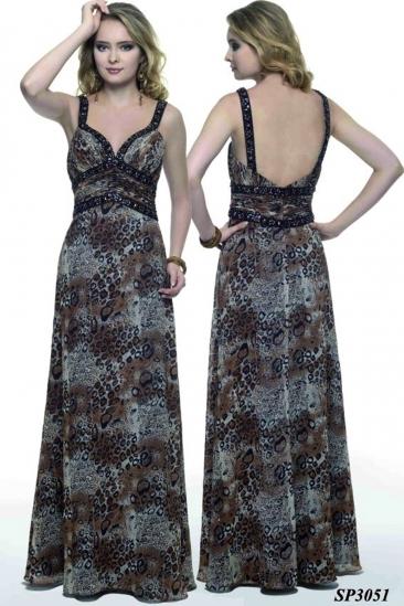 Rochie maxi de seara leopard print