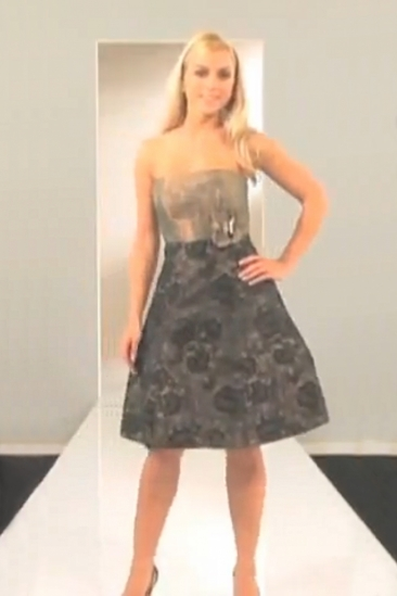 Rochie midi de seara cu corset